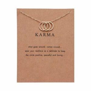 Karma loop necklace